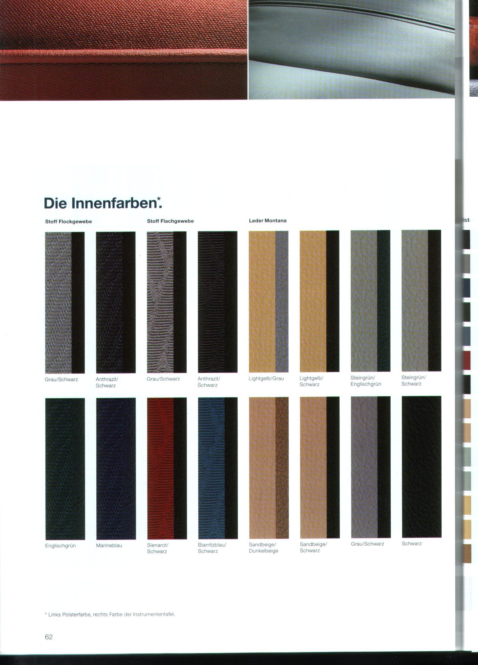 Bmw E39 World Daten Amp Farben E39 Kataloge